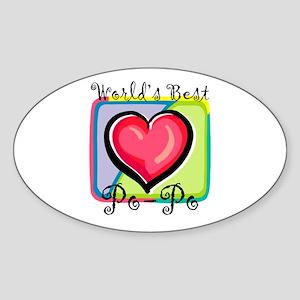 WB Grandma [Mandarin] Oval Sticker